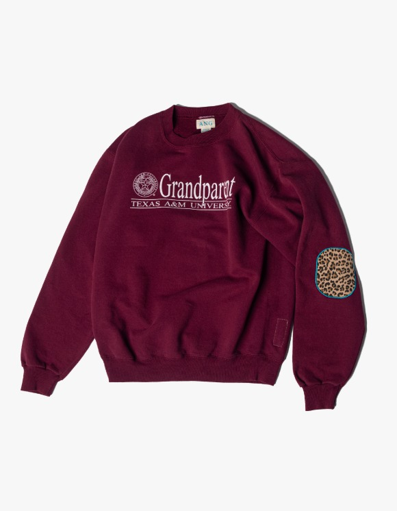 ANG JM Crewneck B #7 - Burgundy | HEIGHTS. | 하이츠 온라인 스토어