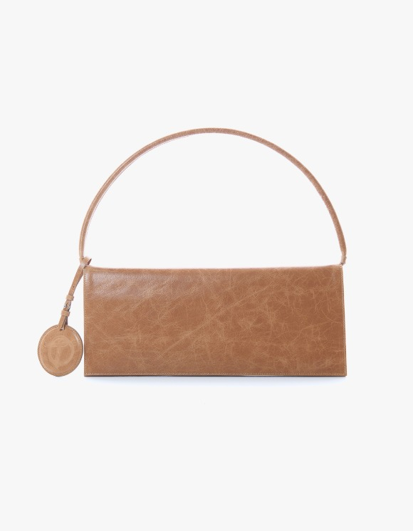 TheOpen Product Flat Crinkled Leather Shoulder Bag - Brown | HEIGHTS. | 하이츠 온라인 스토어