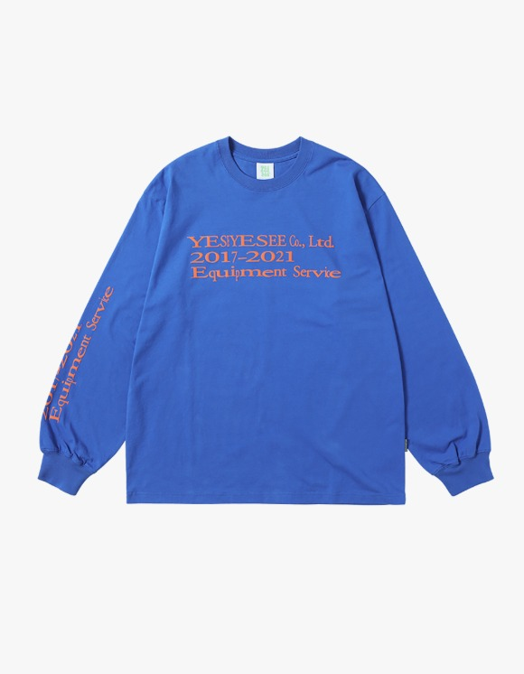 yeseyesee Y.E.S Text L/S - Blue | HEIGHTS. | 하이츠 온라인 스토어