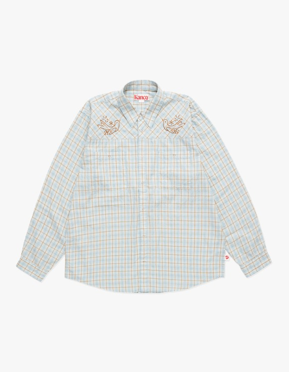 KANCO KANCO 2 POCKET CHECK SHIRT blue | HEIGHTS. | 하이츠 온라인 스토어