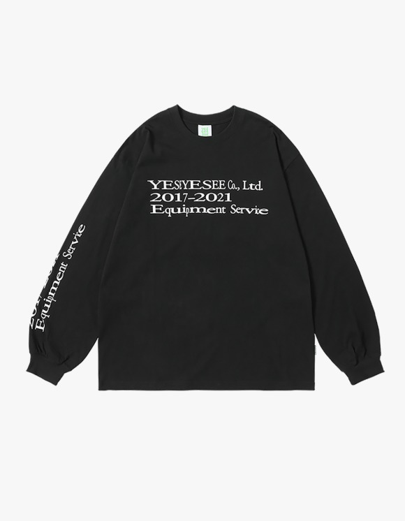 yeseyesee Y.E.S Text L/S - Black | HEIGHTS. | 하이츠 온라인 스토어