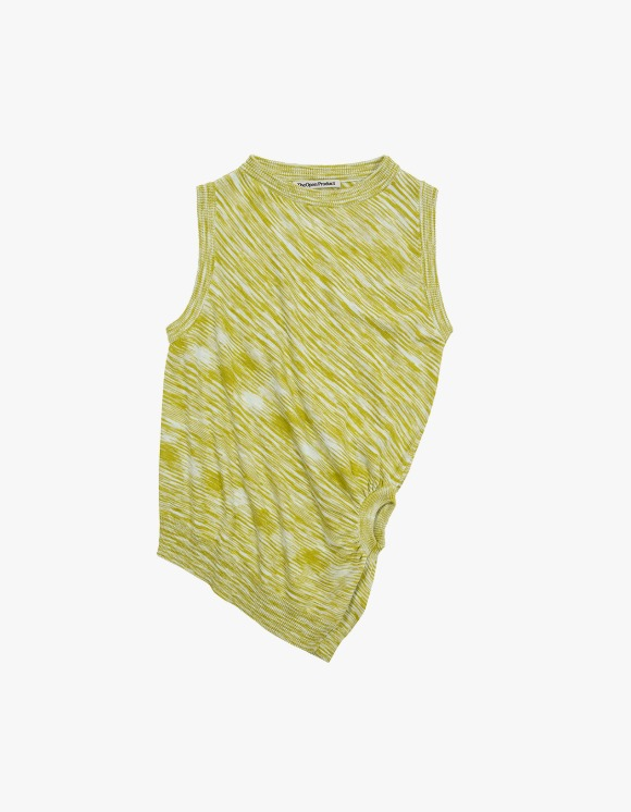 TheOpen Product Color Blended Twisted Knit Vest - Yellow Green | HEIGHTS. | 하이츠 온라인 스토어