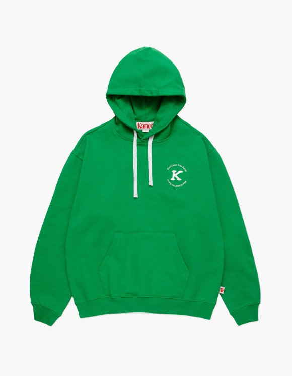 KANCO KANCO SERIF HOODIE green | HEIGHTS. | 하이츠 온라인 스토어