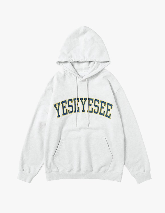 yeseyesee Arch Logo Hoodie - Light Grey | HEIGHTS. | 하이츠 온라인 스토어