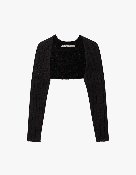 TheOpen Product Cotton Ribbed Bolero Knit Top - Black | HEIGHTS. | 하이츠 온라인 스토어