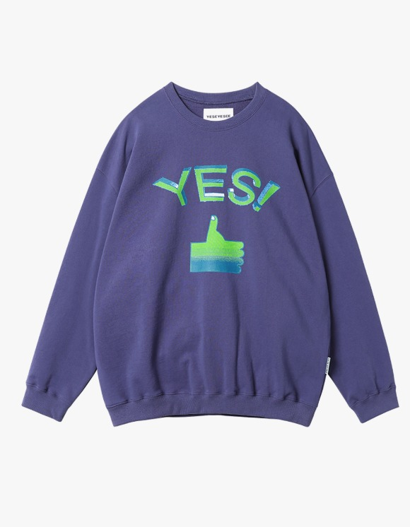 yeseyesee Thumbs up Sweatshirts - Violet | HEIGHTS. | 하이츠 온라인 스토어