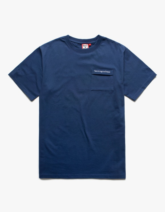 have a good time Side Logo Embroidered Pocket S/S Tee - Ink Blue | HEIGHTS. | 하이츠 온라인 스토어