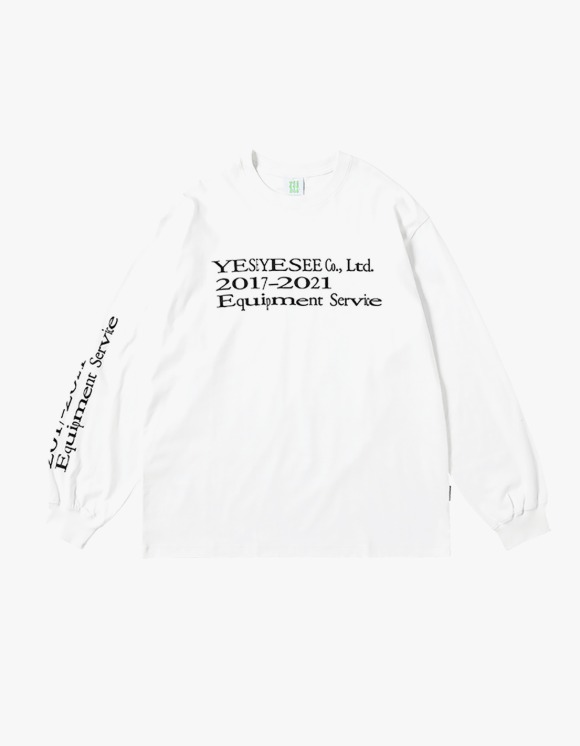 yeseyesee Y.E.S Text L/S - White | HEIGHTS. | 하이츠 온라인 스토어