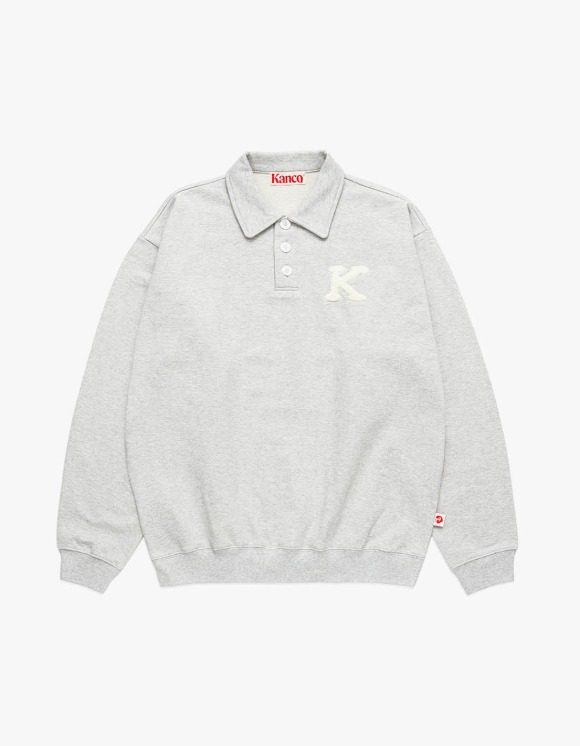 KANCO KANCO COLLAR SWEATSHIRT heather gray | HEIGHTS. | 하이츠 온라인 스토어