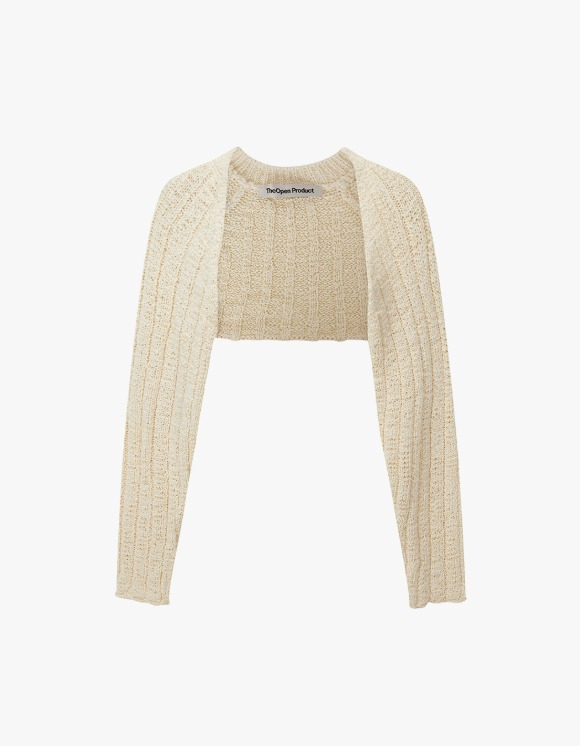 TheOpen Product Cotton Ribbed Bolero Knit Top - Cream | HEIGHTS. | 하이츠 온라인 스토어