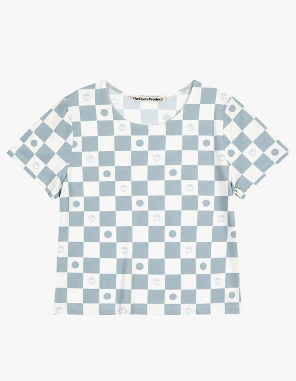 TheOpen Product Symbol Pattern Stretch Half Sleeve Tee - Gray | HEIGHTS. | 하이츠 온라인 스토어