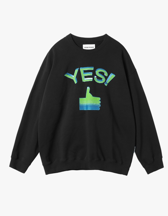 yeseyesee Thumbs up Sweatshirts - Black | HEIGHTS. | 하이츠 온라인 스토어