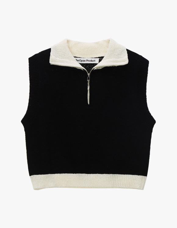TheOpen Product Zip High Neck Knit Vest - Black | HEIGHTS. | 하이츠 온라인 스토어