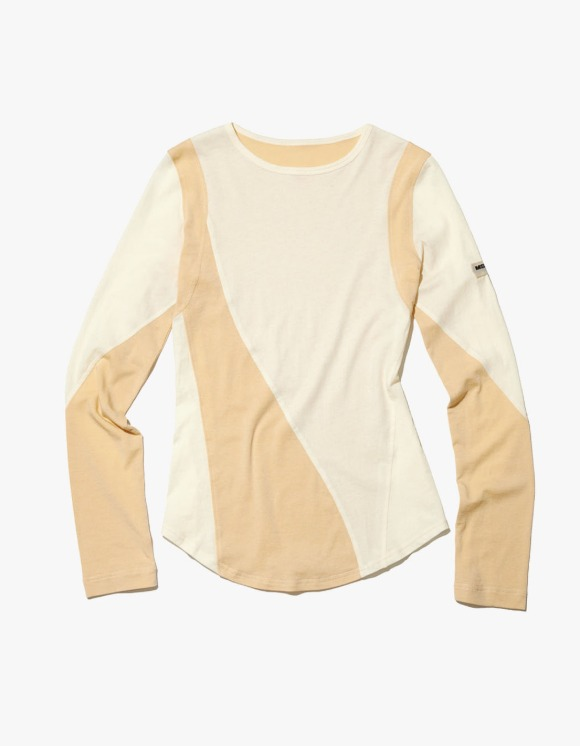 MISCHIEF Color Blocked Jersey Top - Cream | HEIGHTS. | 하이츠 온라인 스토어