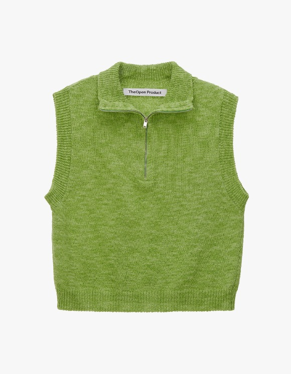 TheOpen Product Zip High Neck Knit Vest - Green | HEIGHTS. | 하이츠 온라인 스토어