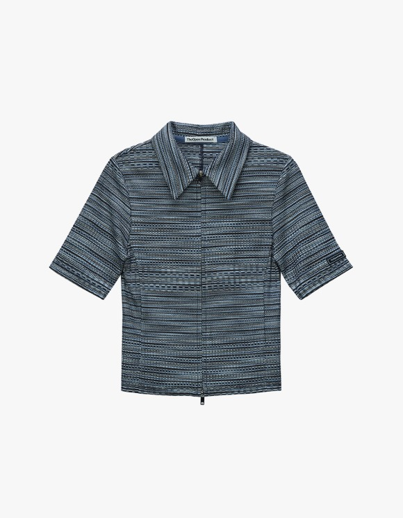 TheOpen Product Two Way Zip Fitted Shirt - Blue | HEIGHTS. | 하이츠 온라인 스토어