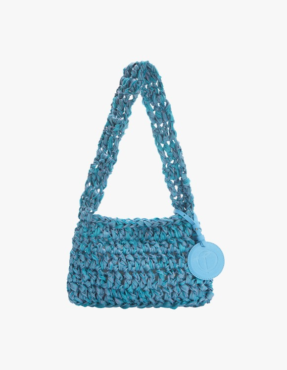 TheOpen Product Knitted Shoulder Bag Nothing Everything Collab - Blue | HEIGHTS. | 하이츠 온라인 스토어